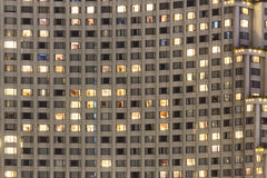 Facade of building tower Stock Photo