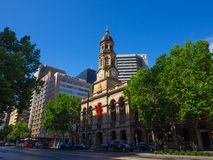 The facade building of Town Hall is a landmark building on King William Street in Adelaide, South Australia. ADELAIDE, SOUTH AUSTRALIA. - On November 07, 2018 stock photography