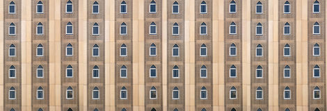 Facade of a building in a traditional Arabic style Royalty Free Stock Photo