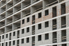 The facade of a building under construction. Facade of a building under construction close-up Stock Images