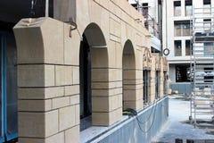 Facade Of Building Under Construction Stock Photo