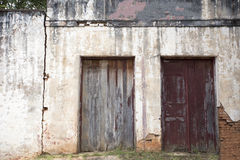 Facade of building in varpa, counyryside brazil Stock Photography
