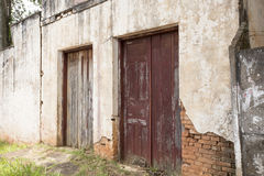 Facade of building in varpa, counyryside brazil Stock Image