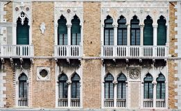 Facade of a building in Venice Stock Images