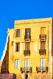 Facade building with windows and balconies Stock Images