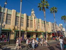 Facade of buildings at Hollywood Studios in Disney California Adventure Park Stock Photos