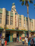 Facade of buildings at Hollywood Studios in Disney California Adventure Park. ANAHEIM, CALIFORNIA - FEBRUARY 15: Facade of buildings at  Hollywood Studios at Royalty Free Stock Photo