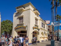 Facade of buildings at Hollywood Studios in Disney California Adventure Park. ANAHEIM, CALIFORNIA - FEBRUARY 15: Facade of buildings at  Hollywood Studios at Royalty Free Stock Images