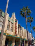 Facade of buildings at Hollywood Studios in Disney California Adventure Park Royalty Free Stock Images