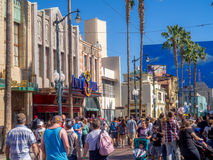 Facade of buildings at Hollywood Studios in Disney California Adventure Park Royalty Free Stock Photos
