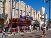 Facade of buildings at Hollywood Studios in Disney California Adventure Park. ANAHEIM, CALIFORNIA - FEBRUARY 15: Facade of buildings at  Hollywood Studios at Royalty Free Stock Photography