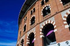 Facade of the bullring Las Arenas in Barcelona, Spain Stock Photography