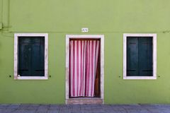 Facade in Burano, Italy Stock Photos