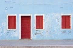 Facade of Burano Royalty Free Stock Image