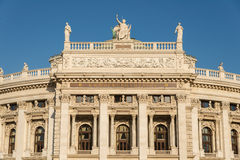 Facade of Burgtheater in Vienna Royalty Free Stock Image