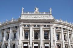 Facade of Burgtheater in Vienna, Austria Stock Photos