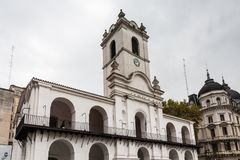 Facade of Cabildo de Buenos Aires Royalty Free Stock Photo