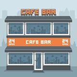 Facade of a cafe Stock Photography