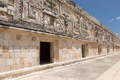 Facade carvings at the prehispanic town of Uxmal Stock Image