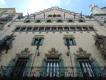 FACADE OF CASA AMATLLER IN BARCELONA, SPAIN Stock Images