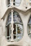 Facade of Casa Batllo in Barcelona. Detail of the facade of Casa Batllo  in Barcelona, Spain. The architectural masterpiece of Antonio Gaudi stock photos