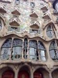 Facade of Casa Batllo in Barcelona, Spain Royalty Free Stock Photos
