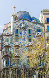Facade of Casa Batllo, Barcelona Stock Image