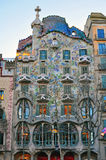 Facade of the Casa Batllo by Gaudi in Barcelona Stock Photography