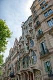 The facade of Casa Battlo in Barcelona, Spain stock image