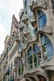 The facade of Casa Battlo in Barcelona, Spain royalty free stock photos