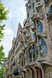 The facade of Casa Battlo in Barcelona, Spain royalty free stock images
