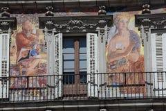 Facade Casa de la Panaderia a Madrid, Spagna Fotografia Stock