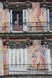 Facade Casa de la Panaderia a Madrid, Spagna Immagine Stock