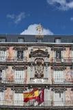 Facade Casa DE La Panaderia in Madrid, Spanje stock fotografie