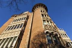 Facade of Casa de Terrades (Casa de les Punxes) in Barcelona - Catalonia - Spain Stock Image