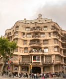 Facade of Casa Mila Barcelona Spain Royalty Free Stock Images