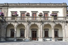 Facade of the Castillo de Chapultepec castle in Mexico City, Mexico Royalty Free Stock Photo