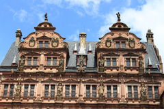 Facade of the castle of heidelberg Stock Images
