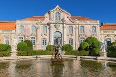 Facade of the castle Queluz of the king. Stock Photo