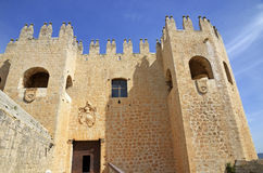 Facade of the castle of Velez Blanco Stock Image