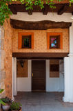 Facade. Catering cottage surrounded by greenery de Mallorca, Spain Royalty Free Stock Photo