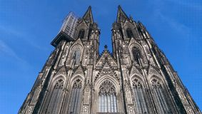 Facade of Cathedral Against Blue Sky Royalty Free Stock Photo