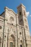 Facade of the Cathedral of Brunelleschi in Florence Stock Images