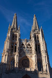 Facade of the Cathedral of Burgos Royalty Free Stock Image