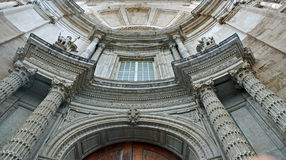 Facade of cathedral in Cadiz Royalty Free Stock Image