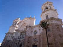 Facade of the Cathedral of Cadiz Royalty Free Stock Images