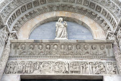 Facade of Cathedral Church Baptistry, Pisa Royalty Free Stock Photos
