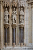 Facade of Cathedral church in Zagreb Royalty Free Stock Photos
