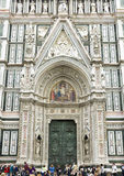 The Facade of the Cathedral of Florence Royalty Free Stock Photo