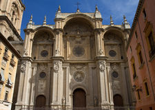 Facade of the cathedral, Granada Stock Images